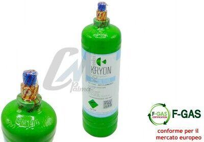 Bombola Gas Refrigerante Condizionatori R134A Da 12 / 2,5 / 0,9 Kg Conforme Eu 3