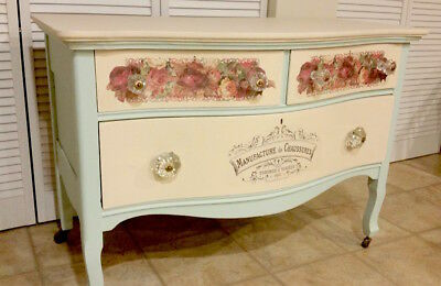 Furniture Decal Vintage Image Transfer Swallows Upcycle Shabby Chic Antique DIY