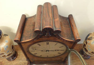 Fine Regency brass inlaid Rosewood BRACKET CLOCK Thomas Cox Savory London c 1820 7