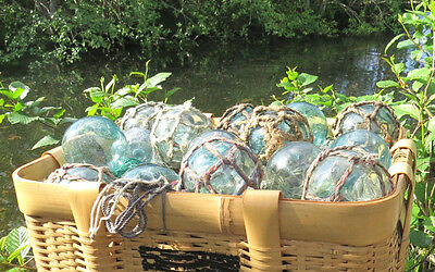 "Japanese Glass Fishing Floats 2/"" Lot-60 Dirty PLAIN Rust Tar Industrial Grubby!"