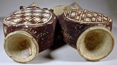 Pre-Columbian CHANCAY TWO-DRUM FIGURAL VESSEL PERU COA 10