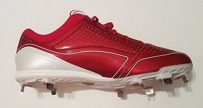 bf06b15f3d4a0f ... Adidas adizero Diamond King Low Baseball Cleats Shoes Red White Mens  Size 13 New 2