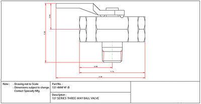 1 4 npt 3 way mini brass ball valve 500 psi l port for fuel oil 1 4 npt 3 way mini brass ball valve 500 psi l port for