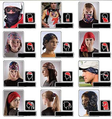 Newset!Unisex Solid Scarf Tube Bandana Head Face Mask Neck Gaiter Snood Headwear 9
