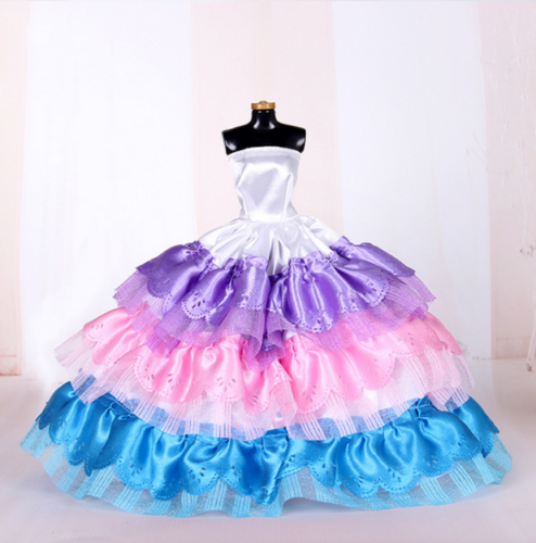 9PCS Barbie Doll Wedding Party Dress Princess Clothes Handmade Outfit for 12in. 6