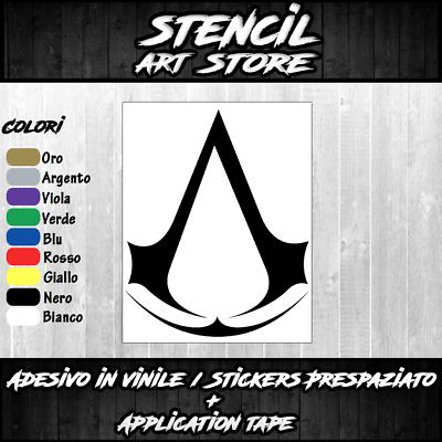 Adesivi in vinile Wall Stickers Prespaziati Assassin Creed Notebook Parete Auto