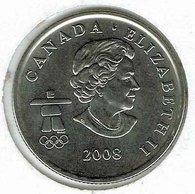 2008-M Canadian Brilliant Uncirculated  Roll of 25 Fifty Cent coins!