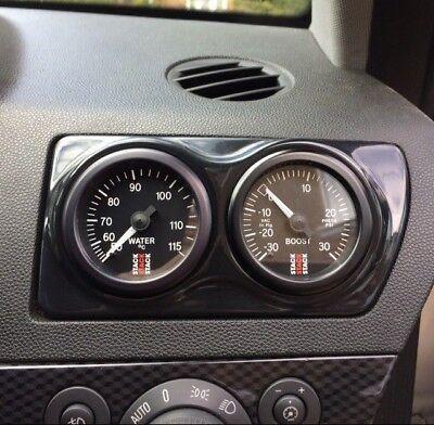 Double Air Vent Gauge Vauxhall Opel Astra H MK5 VXR  Pod Adapter Gloss black ABS 4
