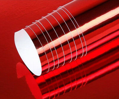 Chrome Mirror Vinyl Film Wrap Sticker Decal Stretchable Reflective Super Gloss 8