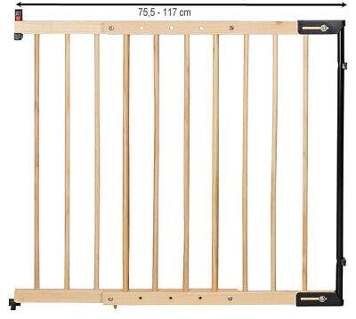 Treppenschutzgitter Clamaro verstellbar von 75,5 - 117 cm universal Treppen, Tür 2