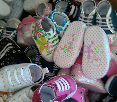 Wholesale Infant Baby Boy Girl First Crib Shoes Job Lots Newborn to 18 Months 7