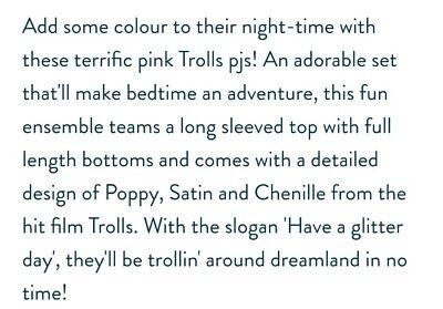 Brand New Trolls Pyjamas Age 5-6 6