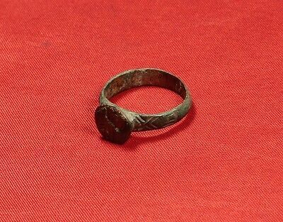 Rare Medieval Knigth's Seal Ring, Finger Ring, 11. Century, Stag Stamp 4