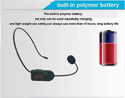 FM Wireless Micphone Headset For Transmitter Loudspeaker Amplifier Voice Booster 8