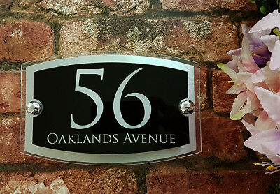 Contemporary House Signs Plaques Door Numbers 1 - 999 Personalised Name Plate 5