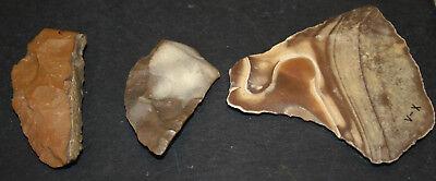 6 Egyptian Faiyum Predynastic Flint Flaked Hand Stone Tools 7400-6400 BC #11 2
