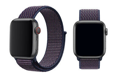 Woven Nylon Band For Apple Watch Sport Loop iWatch Series 4/3/2/1 38/42/40/44mm 4