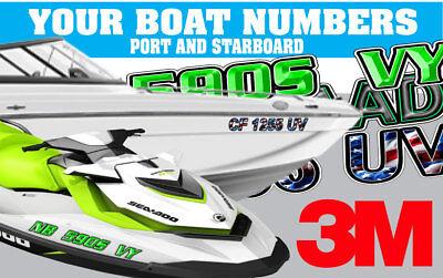 Snake Skin Custom Boat Registration Numbers Decals Vinyl Lettering Stickers USCG