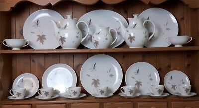 Royal Doulton Tumbling Leaves Dinner Tea & Coffee Service Vintage Excellent 2
