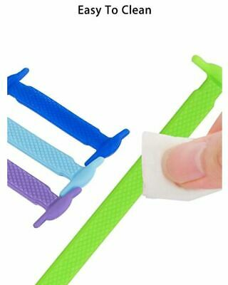 Silicone Shoelaces Elastic Shoe Lace Easy No Tie Kids Adult Lazy Trainers Rubber 12