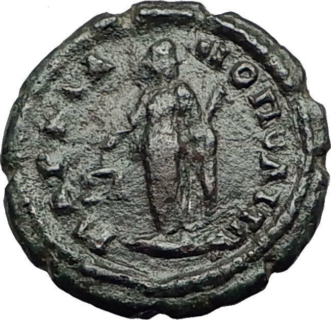 ELAGABALUS 218AD Marcianopolis Authentic Ancient Roman Coin NEMESIS i65025 2