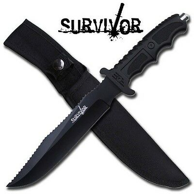 "13"" TACTICAL FIXED BLADE Machete SURVIVAL KNIFE Hunting Army Military w/ SHEATH 3"