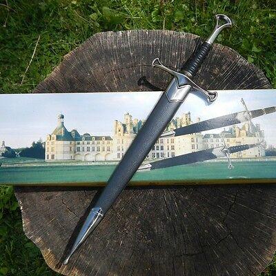 "13.5"" KING ARTHUR MEDIEVAL Historical SHORT SWORD DAGGER Knife Scabbard + SHEATH 2"