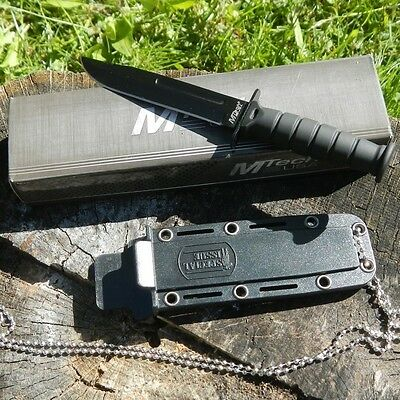"""6"""" TACTICAL BOOT COMBAT NECK KNIFE Survival Hunting BOWIE Military Fixed Blade 2"""