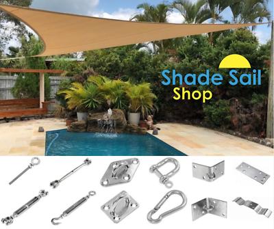 100 x 100 mm Corner Bracket  External STAINLESS STEEL DIY Shade sail accessories 3