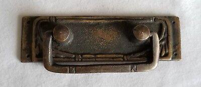 "2 Vtg Antique French Ornate Brass Drawer Handles Pulls 3-1/4""wide #Z77"