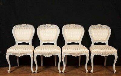 Set 8 French Provincial Painted Dining Chairs Rustic Furniture 3