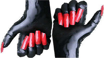 Gummi Latex Rubber Handschuhe mit French White Fingertips Top Marke Gr.-Auswahl