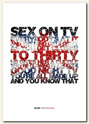 BLUR End Of The Century  ❤  song lyrics typography poster art print