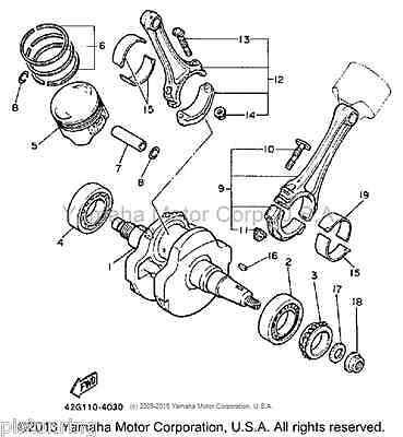 Piston Rings Kit 49.75mm For Yamaha XV250 Virago 88-18 XC125 Cygnus ATV YFM100