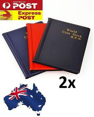 2 X OZ Holder 120 Coins Collection Album Storage Money Penny Book Collecting 2