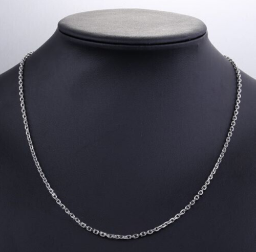 2/3/4mm Men Womens 316L Stainless Steel Silver Oval Link Chain Necklace Gift 3