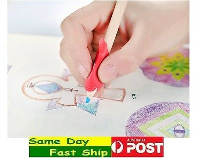 3x pencil grip kid Children Hand writing Correction Aid pen posture hold help 3