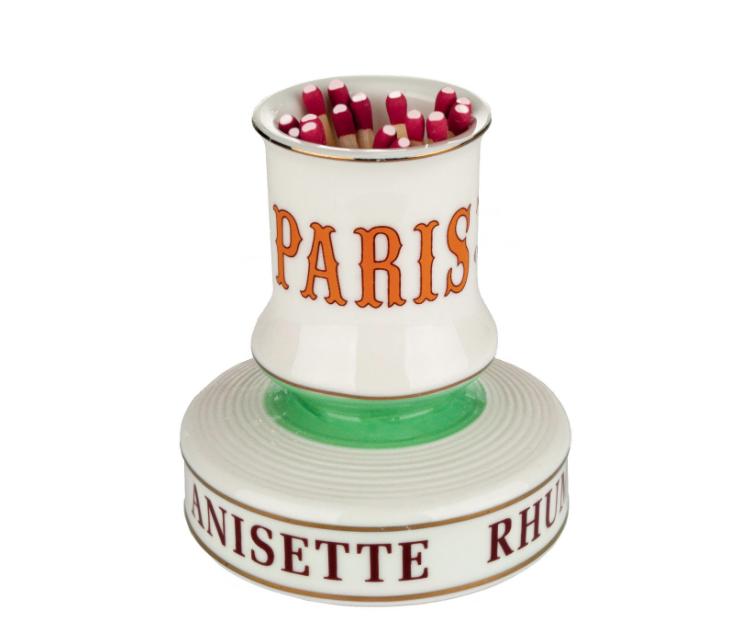 Cafe Paris French Absinthe Match Striker Holder Porcelain French Pyrogene 9
