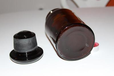 Apothekerflasche, Form selten, rund, alt, BISMUTH. TRIBROM. SCHLIFF STOPFEN