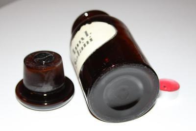 Apothekerflasche, Form selten, rund, alt, AMYL. SOLANI SCHLIFF STOPFEN 3