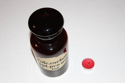 Apothekerflasche, Form selten, rund, alt, CALC. CARBON. PPT. PRO SCHLIFF STOPFEN