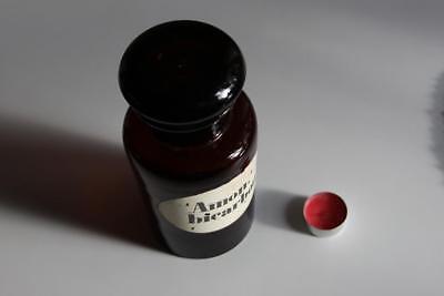 Apothekerflasche, Form selten, rund, alt, AMON. BICARBON. SCHLIFF STOPFEN breite 3