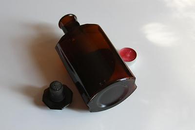 Apothekerflasche, Form selten, SIRUP. AURANT.EXOC. rund mit 4 Kanten,alt, grosse