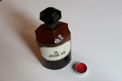 Apothekerflasche, Form selten, OL. JECOR. AS. rund mit 4 Kanten,alt, grosse