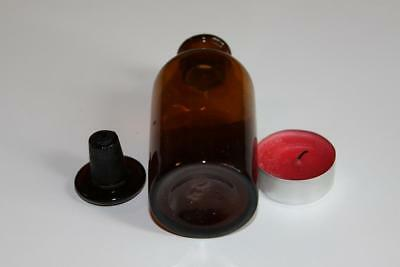 Apothekerflasche, Form selten, rund, alt, MENTHOL. VALERIANIC. SCHLIFF STOPFEN