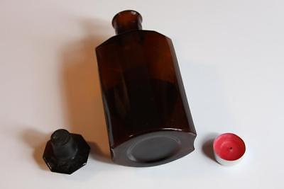 Apothekerflasche, Form selten, OL. RAPAE rund mit 4 Kanten,alt, grosse