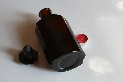 Apothekerflasche, Form selten, SIRUP. COLAE COMP rund mit 4 Kanten,alt, grosse