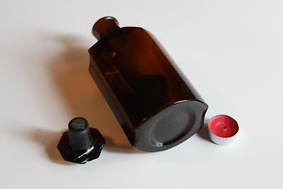 Apothekerflasche, Form selten, ACET. PYROLIGNOS. rund mit 4 Kanten,alt, grosse