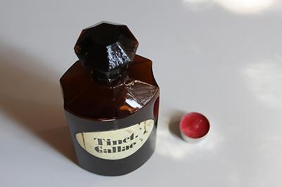 Apothekerflasche, Form selten, TINCT. GALLAE rund mit 4 Kanten,alt, grosse