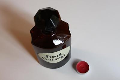 Apothekerflasche, Form selten, TINCT. CRATAEGI rund mit 4 Kanten,alt, grosse 2